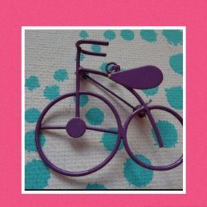 Purple bike brooch jewelry pin pendant